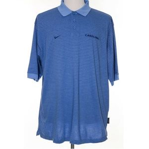 Nike Carolina Tar Heels UNC Polo Shirt Golf Stripe